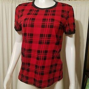 Kate Spade Saturday Plaid Shirt M